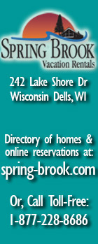 Spring Brook Vacation Homes & Cottages in Wisconsin Dells