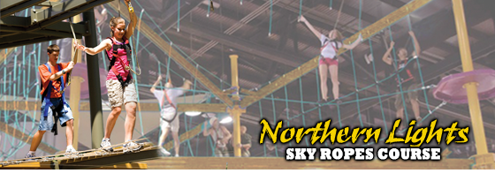 NEW ATTRACTION! Northern Lights Sky Ropes Course