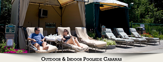 Outdoor Poolside Cabanas