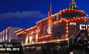 The CPR Holiday Train arrives in Wisconsin Dells on Sunday, December 9th, 2012