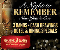 A Night to Remember New Year's Eve Celebration at Ho-Chunk Gaming