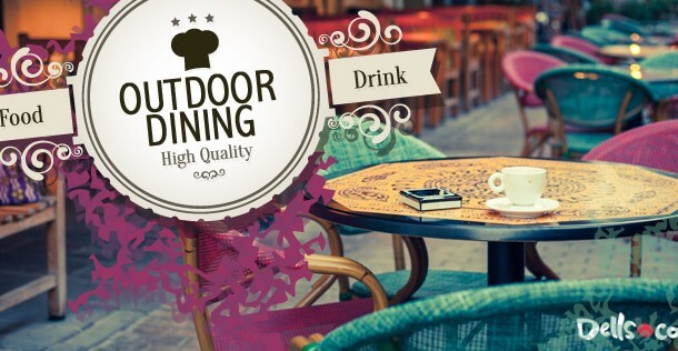 Dining Outdoors in Wisconsin Dells