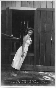 Woman at The Wonder Spot - Hi-way 12 Lake Delton at the Dells