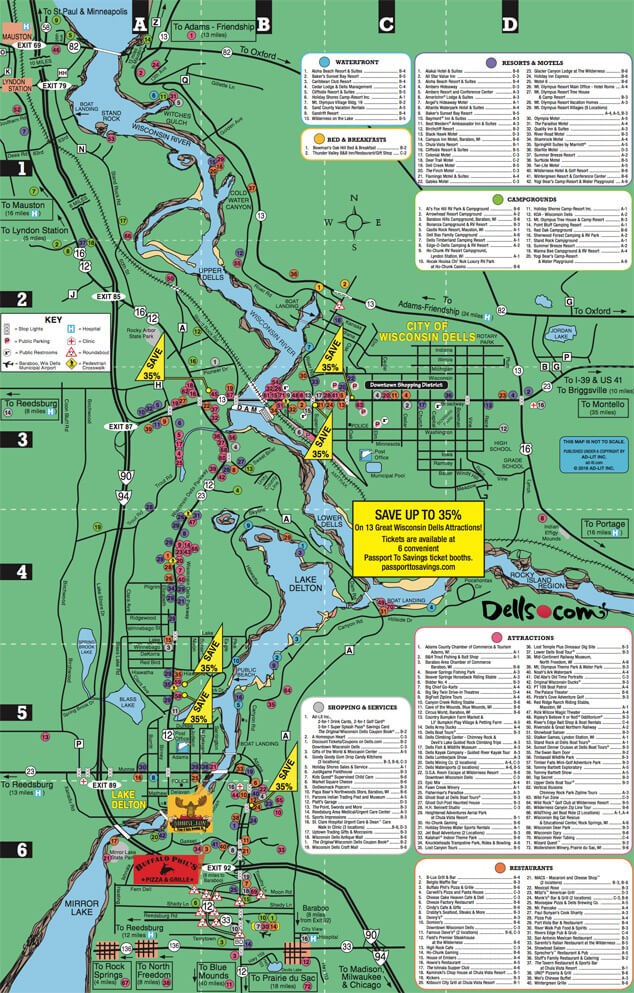 Area Maps – Tourist Attractions Map In Wisconsin