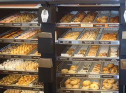 Dunkin' Donuts features over 35 types of donuts