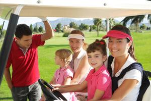 Family Golfing in Wisconsin Dells