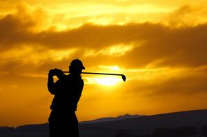 Golfing Sunset