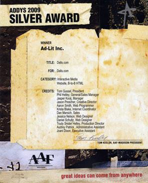 Silver Addys Award