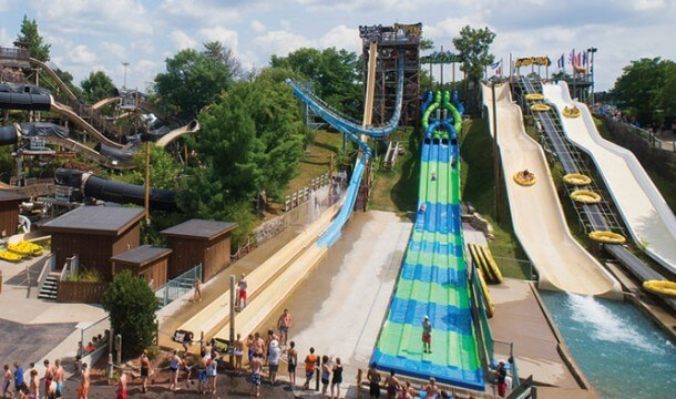 High in the Sky Waterslides in Wisconsin Dells