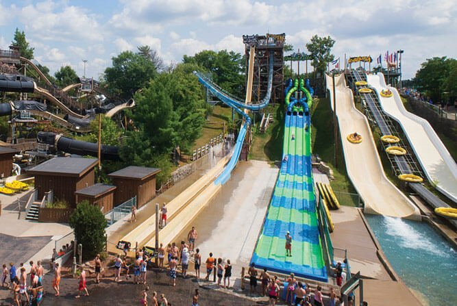 High In The Sky Waterslides In Wisconsin Dells Dells Com
