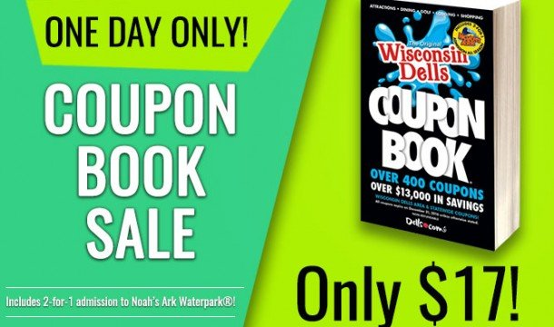 TODAY ONLY: 2016 Wisconsin Dells Coupon Book only $17!