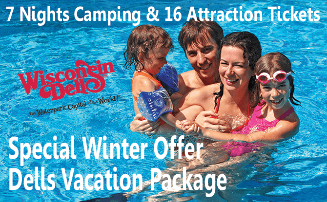 Wisconsin Dells Camping Vacation Package, 7 Nights, 16 Tickets