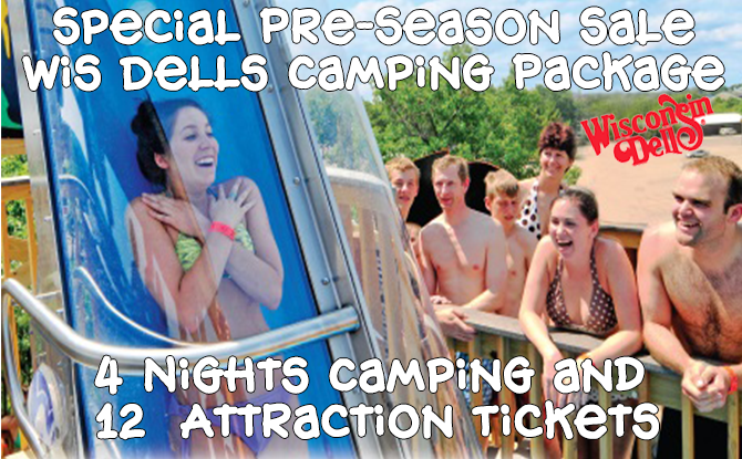 Dells Camping and Attraction Package, 4 Nights, 12 Tickets