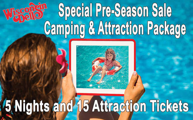 Wisconsin Dells Family Fun Camping Package, 5 Nights, 15 Tickets