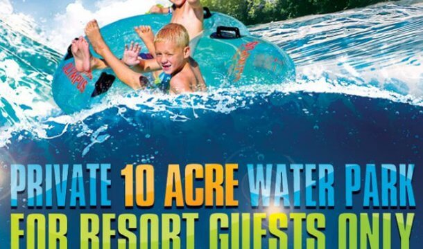 New This Summer: Private 10-Acre Water Park for Mt. Olympus Resort Guests
