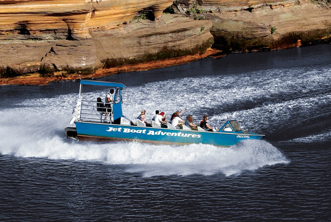 During the summer months, Dells Army Ducks depart every minutes daily for a one-hour duck boat tour. All duck boat tours are guided through Lake Delton and the Lower Dells of the Wisconsin River, exposing you up close to one-of-a-kind rock formations. Visit our Photo Gallery to see historic photos and tour images.