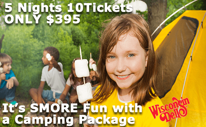 WISCONSIN DELLS SURF & TURF CAMPING PACKAGE
