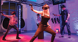 Hologate virtual reality game